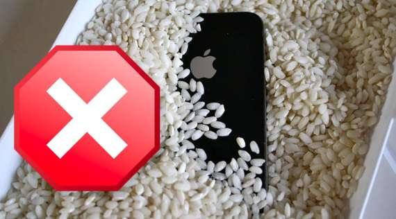 Утопил iPhone — поможет ли рис?